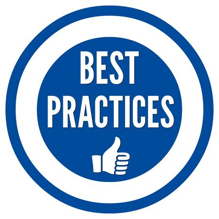 practices: Best practices sign