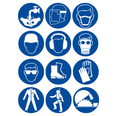 personal protective equipment: Safety signs at work