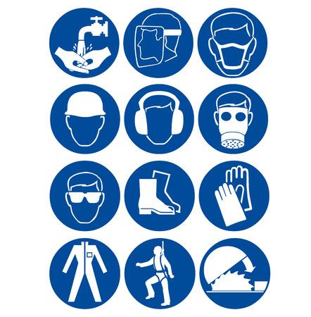 Veiligheidstekens op het werk