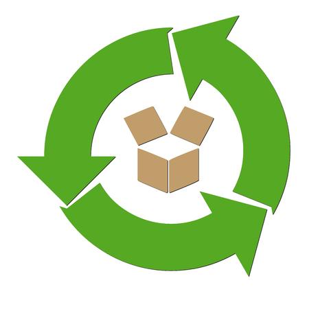 Recycle paper symbol Stock Photo