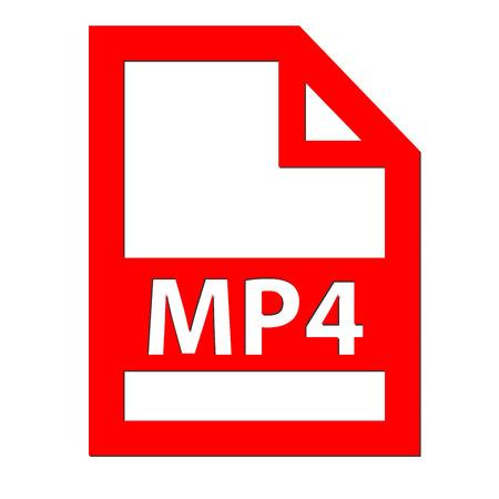 mp4: MP4 file icon Stock Photo