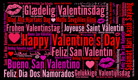 Happy Valentine's day in different languages