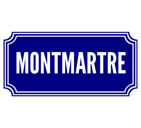 paris street: Montmartre in Paris street sign