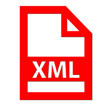 xml: XML file icon Stock Photo