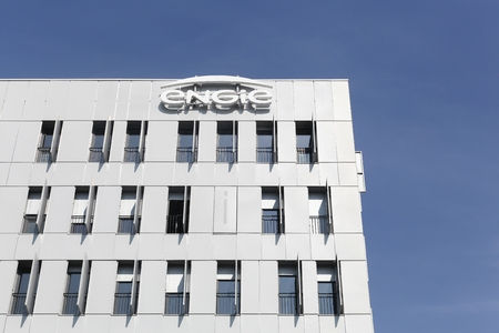 electricity providers: Lyon, France - March 15, 2017: Engie building and offices. Engie is a French multinational electric utility company which operates in the fields of electricity generation and distribution, natural gas and renewable energy Editorial
