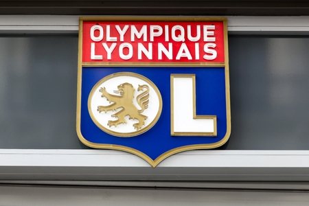 Lyon, France - February 26, 2017: Olympique Lyon commonly referred to as simply OL is a French football club based in Lyon. It plays in Frances highest football division, Ligue 1