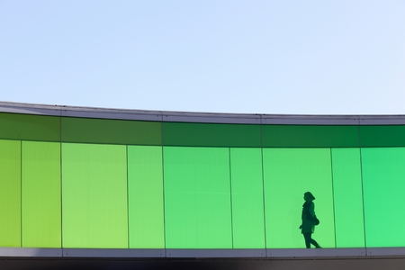 Aarhus, Denmark - April 20, 2013: Aros contemporary art museum. Aros contemporary is an art museum in Aarhus, Denmark. Aros is one of the largest art museums in northern Europe