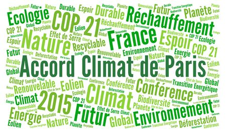 Paris climate agreement word cloud in french