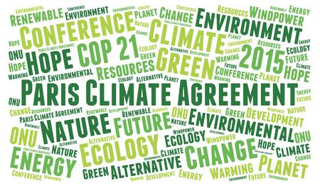 Paris climate agreement word cloud