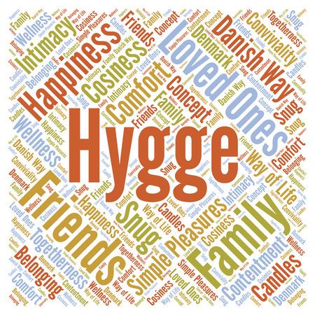 Hygge 単語の雲