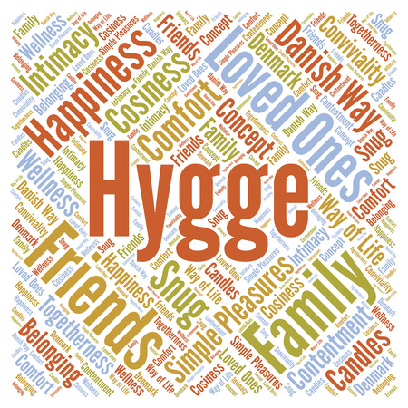 Hygge word cloud