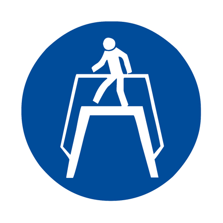 Use footbridge safety sign