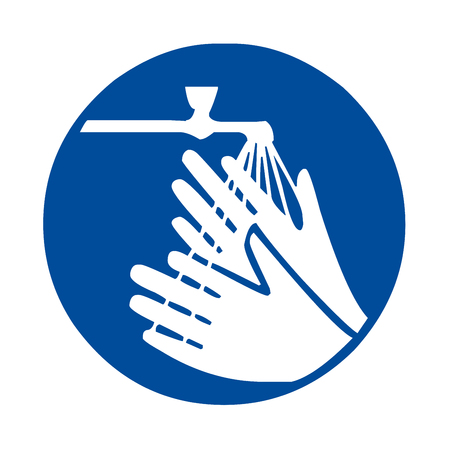 please wash your hands icon: Wash your hands sign