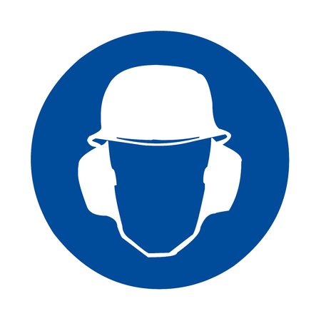 Safety sign head and ear protection