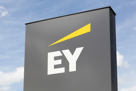 Luxembourg, Luxembourg - July 22, 2017: Ernst & Young also called EY is one of the largest professional services firm in the world and is one of the Big Four accounting firms