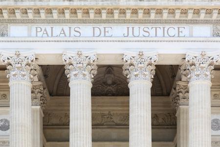 Palais of justice in Frankrijk Stockfoto - 83896227