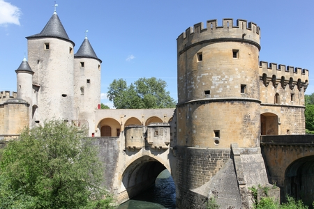 The Germans Gate or Porte des Allemands in french from the 13th century in Metz, France Imagens