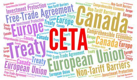 CETA word cloud illustration
