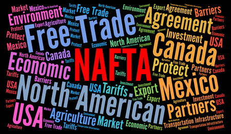 NAFTA word cloud illustration