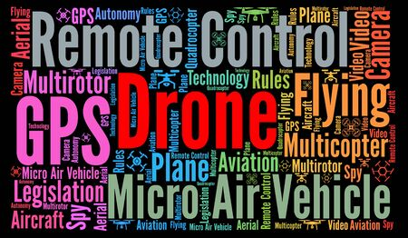 Drone word cloud concept Stock Photo