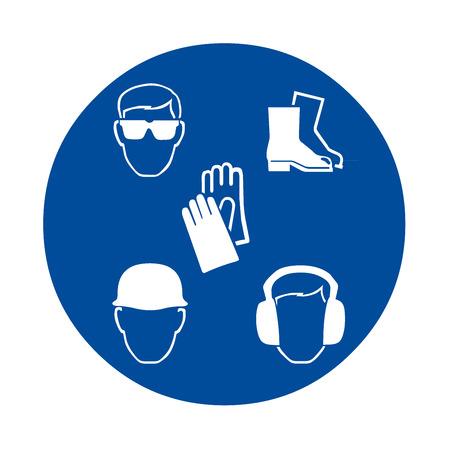 직장 안전 표지 스톡 콘텐츠
