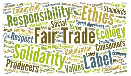 Fair trade word cloud Фото со стока