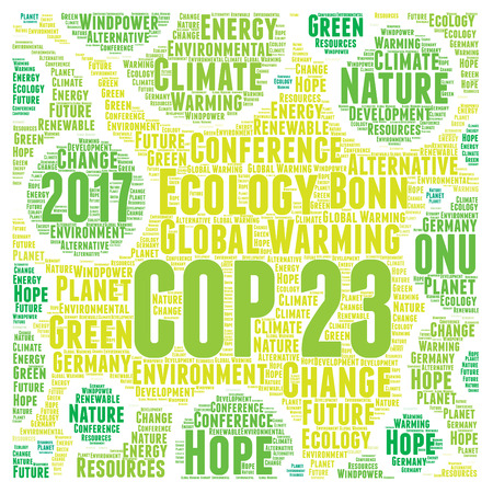 COP 23 in Bonn, Germany illustration Stock Photo