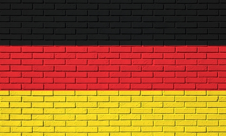 Flag from Germany on a brick wall Stock Photo