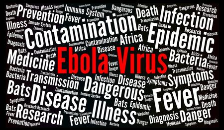 Ebola virus word cloud concept illustration Stock Photo