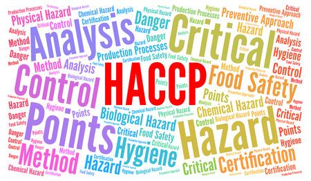 HACCP word cloud concept Stock Photo