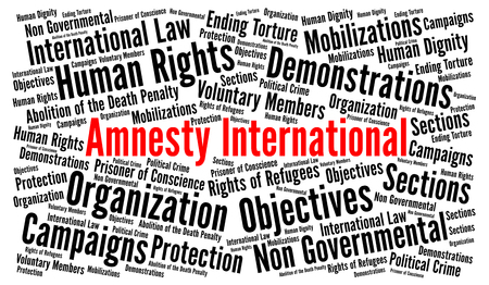 Amnesty International word cloud concept