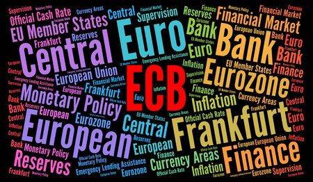 ECB word cloud concept
