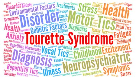 Tourette-syndroom word cloud Stockfoto