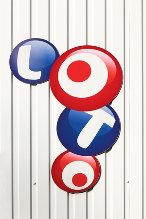 Nespouls, France - June 6, 2017: French loto logo on a wall. Francaise des Jeux also called FDJ is the operator of the loto game in France