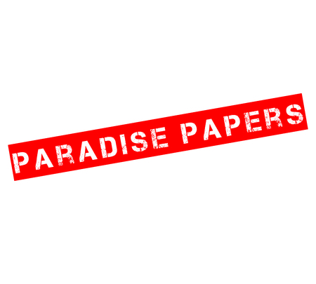 Rubber stamp with text Paradise papers