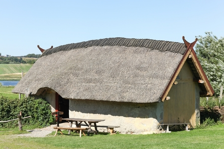 Viking house in Hobro, Denmark