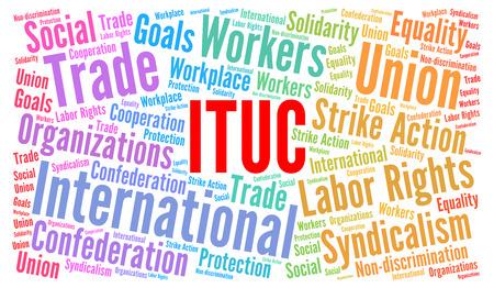 ITUC word cloud illustration Stock Photo
