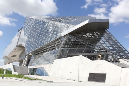 Lyon, France - July 3, 2017: The Musee des Confluences in Lyon, France. The Musee des Confluences is a science centre and anthropology museum opened in 2014 in Lyon, France