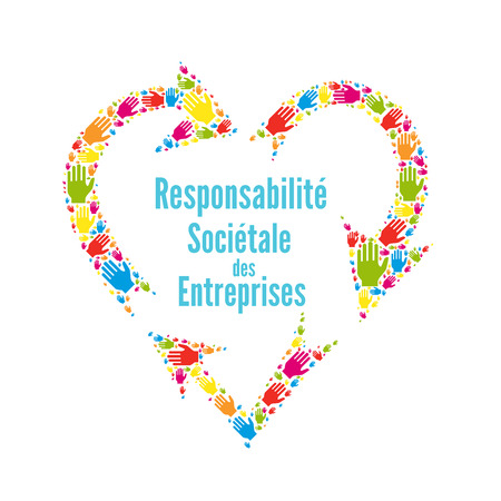 Corporate social responsibility called responsabilite societale entreprise in French
