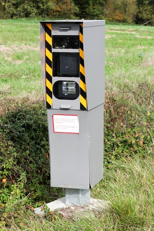 Radar control on a road in France 스톡 콘텐츠