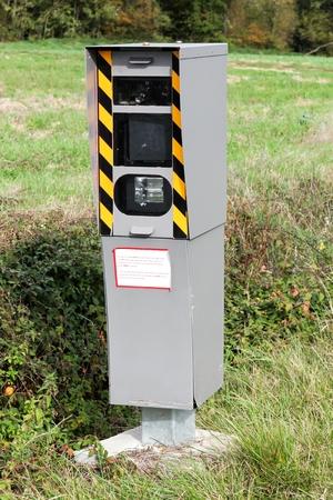 Radar control on a road in France Stockfoto