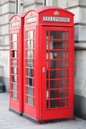 Red telephone box in London, United Kingdom Banque d'images - 96288081