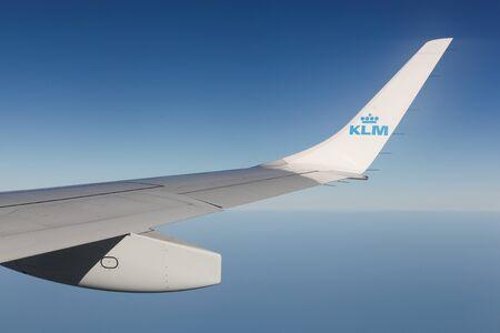 Nederland - 15 september 2016: KLM is de nationale luchtvaartmaatschappij van Netherlands.KLM heeft haar hoofdkantoor in Amstelveen, met haar hub op Amsterdam Airport Schiphol. Het maakt deel uit van de Air France-KLM-groep