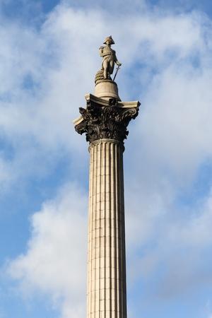 Nelsons Column at Trafalgar Square, London, United Kingdom