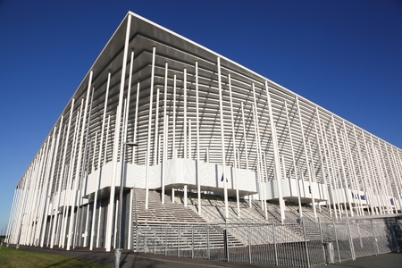 Bordeaux , France - June 5, 2017: Matmut Atlantique stadium in Bordeaux. It is the home of Ligue 1 club FC Girondins de Bordeaux and seats 42,115 spectators
