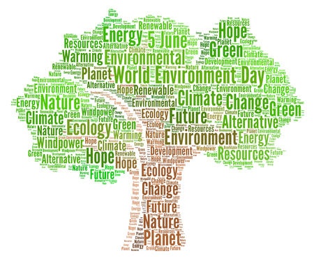 World environment day word cloud Stock Photo