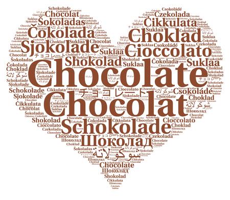 다른 언어로 단어 구름 초콜릿 스톡 콘텐츠 - 99995680