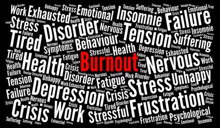 Burnout word cloud concept Banco de Imagens