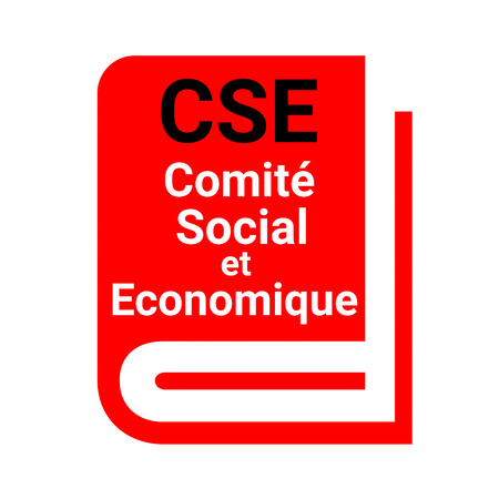 Social and Economic Committee called CSE in France Stockfoto