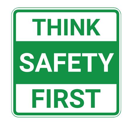 Denken Sie an Sicherheit als erstes Zeichen